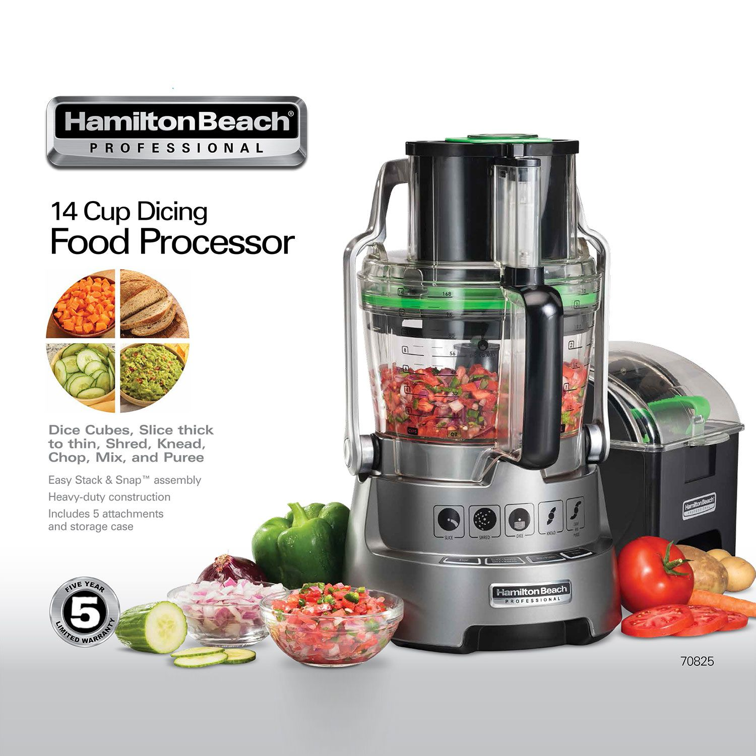 14cup hamilton beach professional food processor with