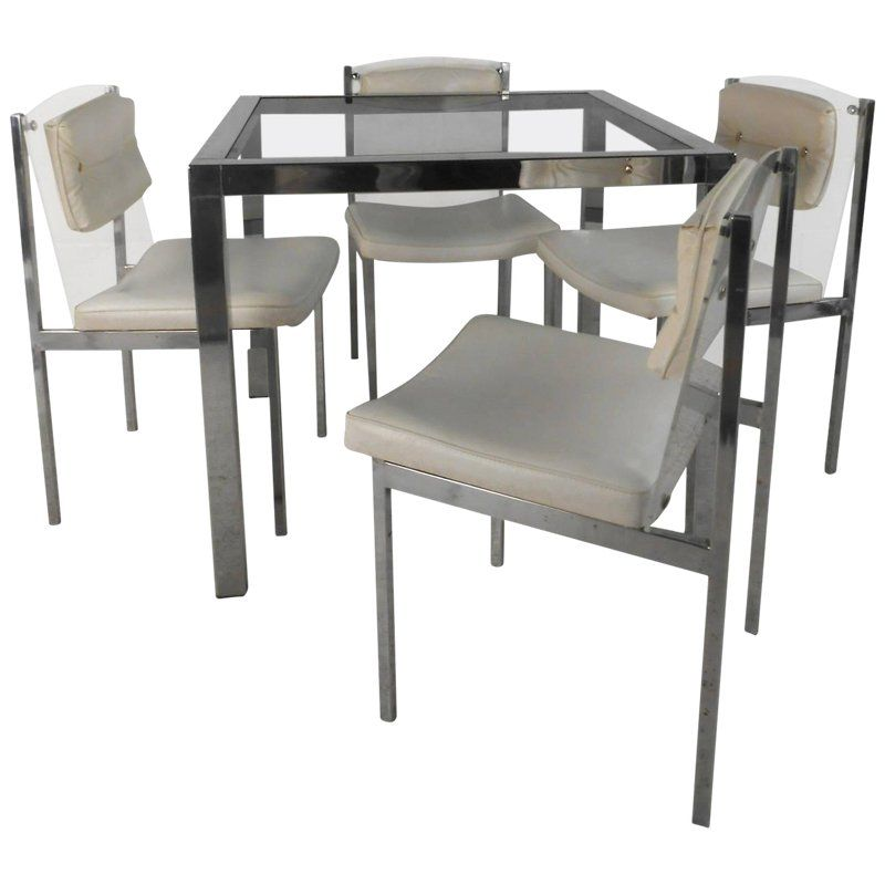 Modern Chrome Dining Room Chairs
