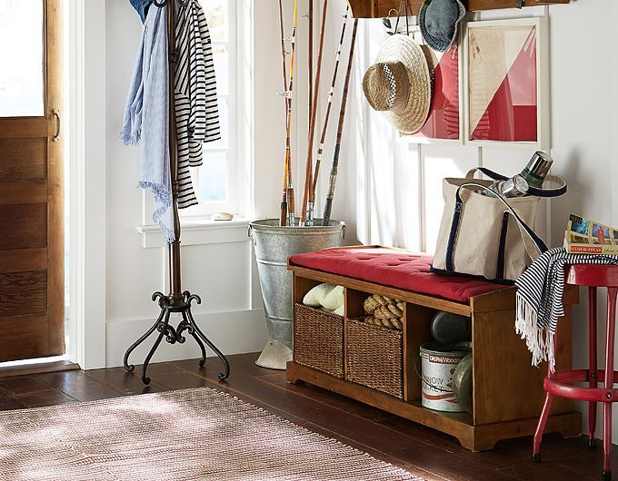 Front Foyer Storage : Front entryway decorating ideas pottery barn my lake