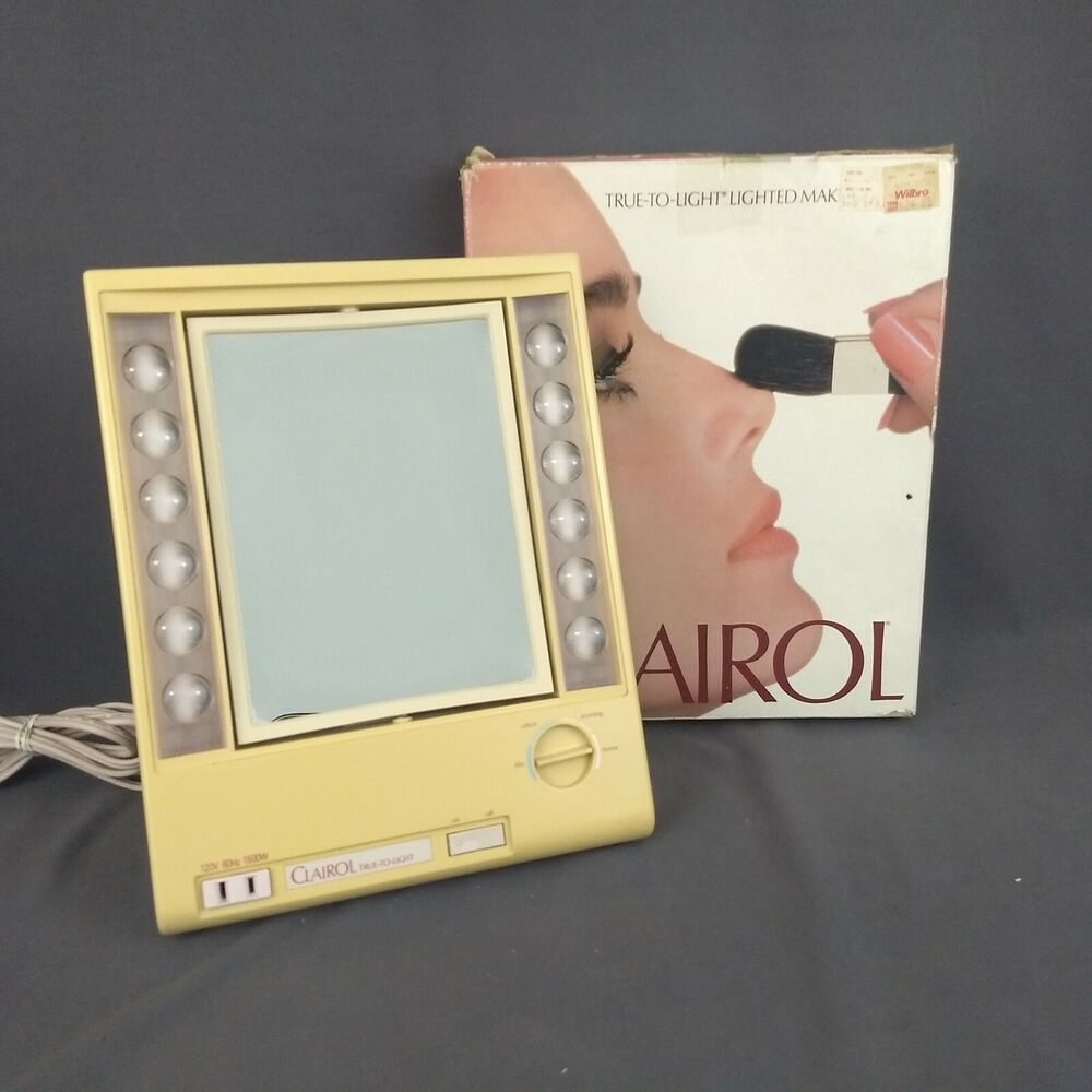 Clairol True To Light Lighted Make Up Mirror Lm 7 Vintage 4 Color