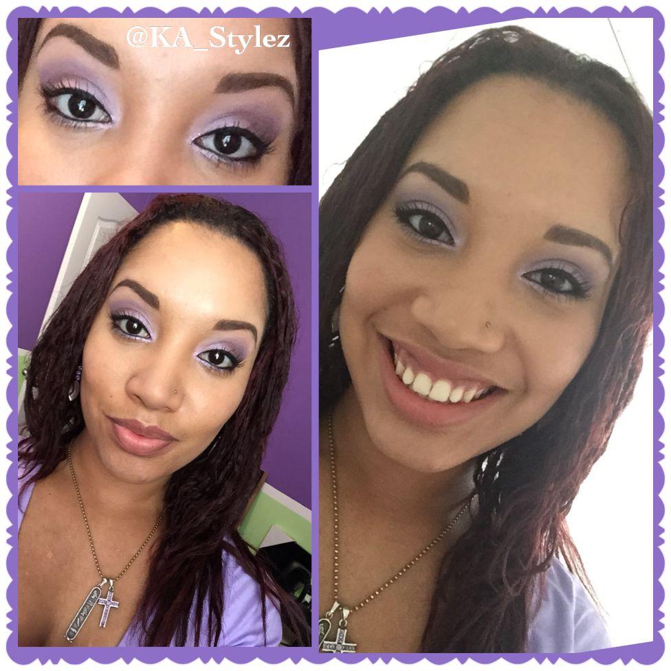 Purple makeup look all using Motives Cosmetics Purple