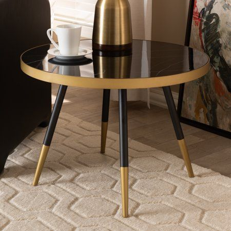 Home Round Coffee Table Contemporary Coffee Table Black Coffee