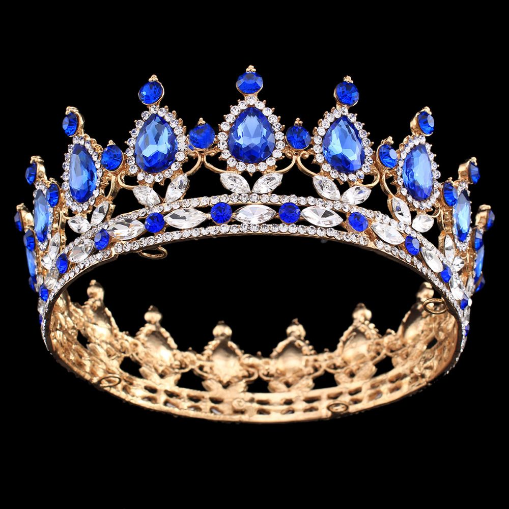 Crowns full circle round tiaras rhinestones crystal wedding bridal - Find More Hair Jewelry Information About Pageant Full Circle Tiara Clear Austrian Rhinestones King Queen Crown Wedding Bridal Crown Costume Party Art Deco