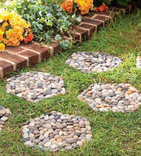 Cool Cmo Hacer Propios Camino De Jardn Con Piedras With Como Hacer Un Jardin  Con Piedras.
