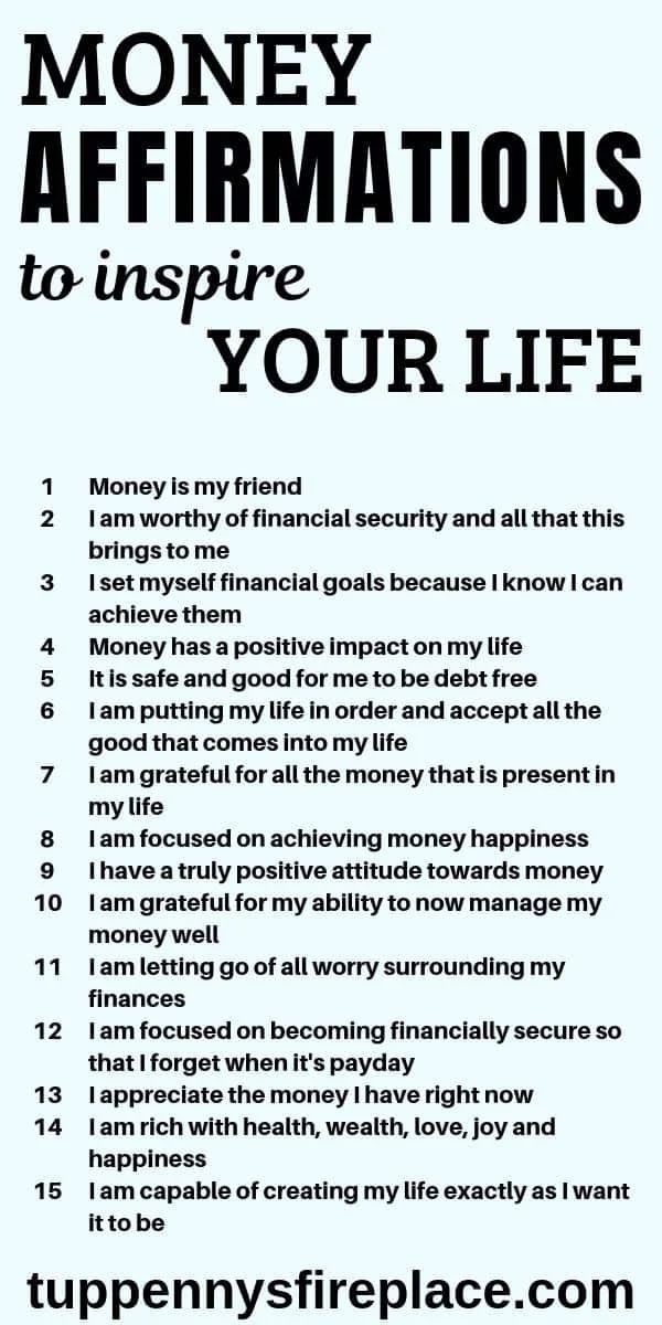 15 Money Affirmations That Will Inspire Your Life   Tuppennys Fireplace