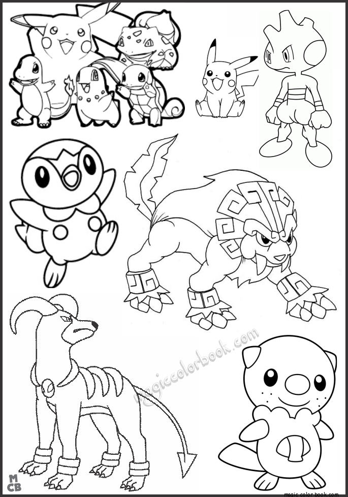 Anime Coloring Pages Free Magic Color Book 9 Coloring Pages, Pokemon Coloring  Pages, Coloring Books