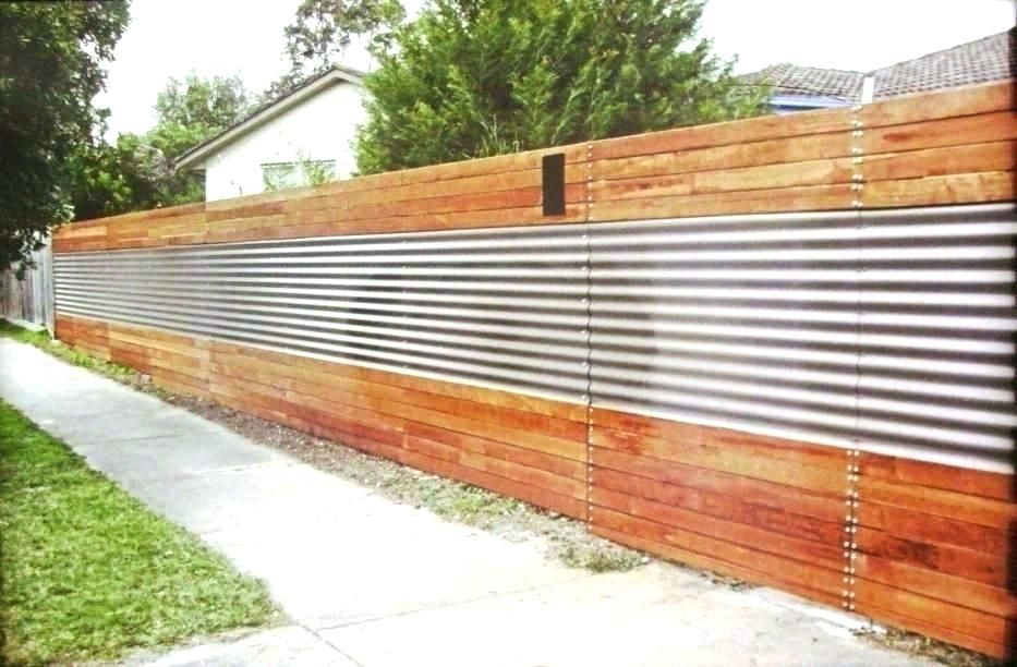 Metal And Wood Fencing Ideas Image Of Corrugated Metal