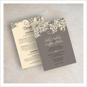 Gray Filigree Wedding Invitations Wedding Love In Grey Platinum