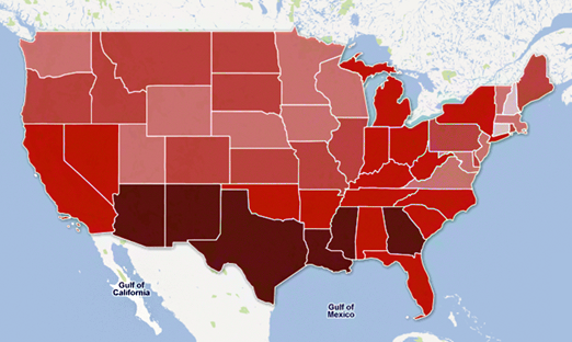 Cloropleth Mapping GIS Pinterest Choropleth Map Ontario - Map of highest crime rates in us