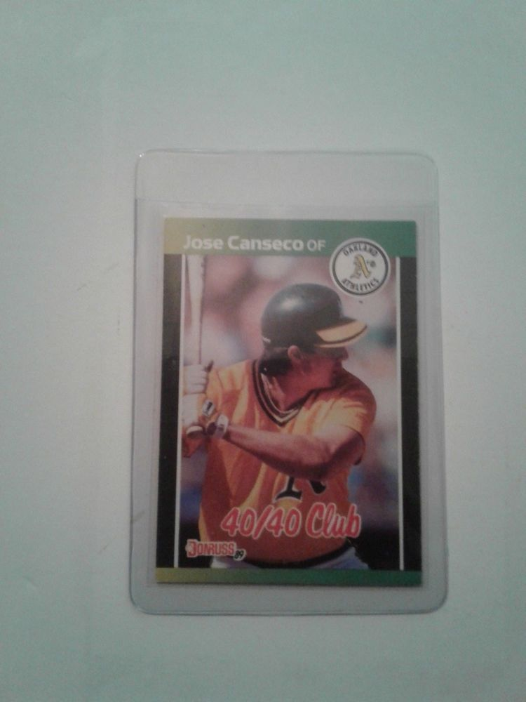 1988 leaf 89 donruss first 4040 man jose canseco card
