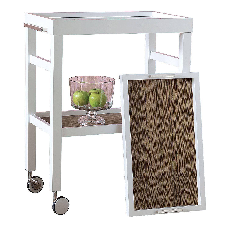 Avalon White Bar Cart