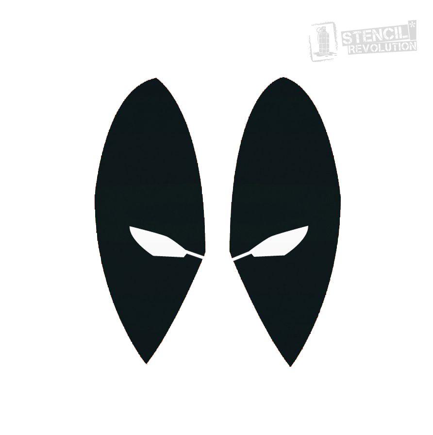 Deadpool Stencils | Airbrush schablonen, Schablone und Halloween