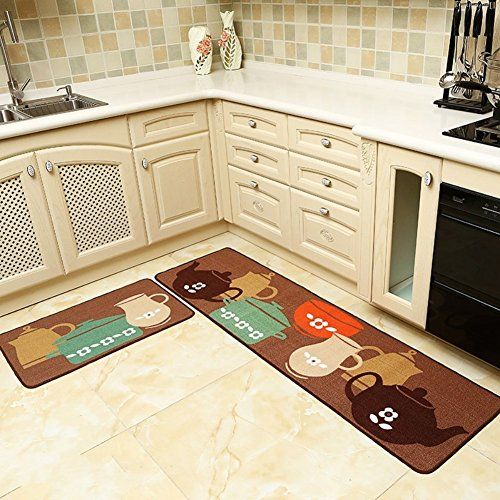 Best Kictchen Rugs Seamersey Home And Kitchen Rugs 2 Pieces 4 Size Decorative Nonslip Rubber Backing Doormat Kitchen Rug Kitchen Area Rugs Rug Runner Kitchen