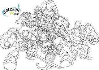 Skylanders Giants Coloring Pages 99 | ninjini | Malvorlagen ...