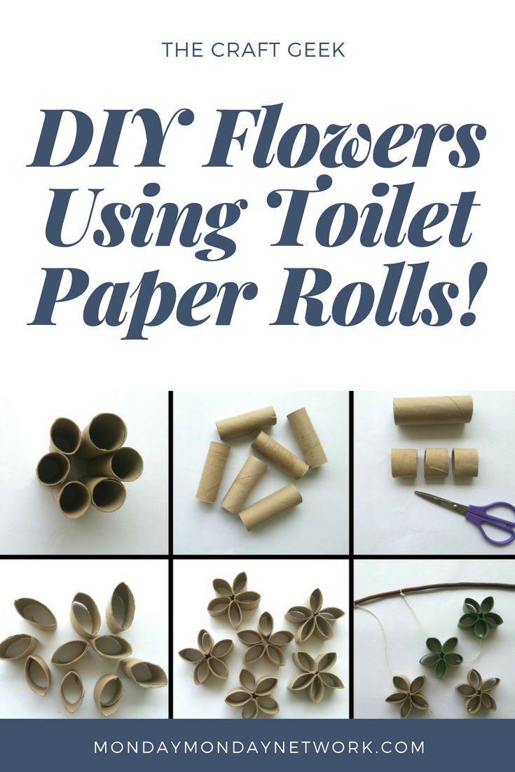 Diy flowers using toilet paper rolls easy diy gifts