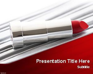 lipstick powerpoint template | new free powerpoint, Modern powerpoint