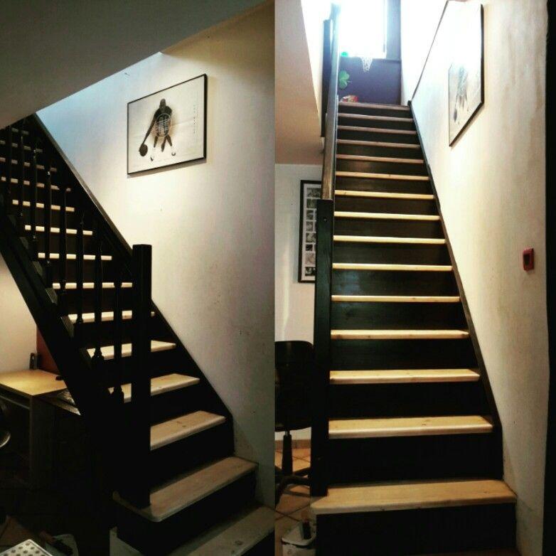 Peinture Escalier Noir Peinture Escalier Escaliers Maison Escalier