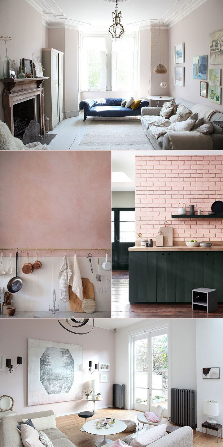 How Pink Became a Neutral Pink living room walls, Pink