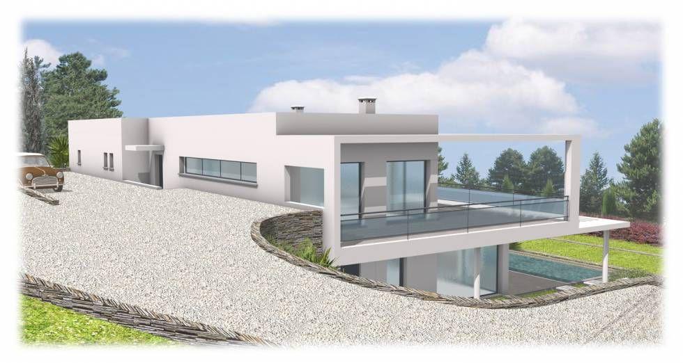 Modèle de maison Terrain En Pente Maison Pinterest - construction maison terrain en pente