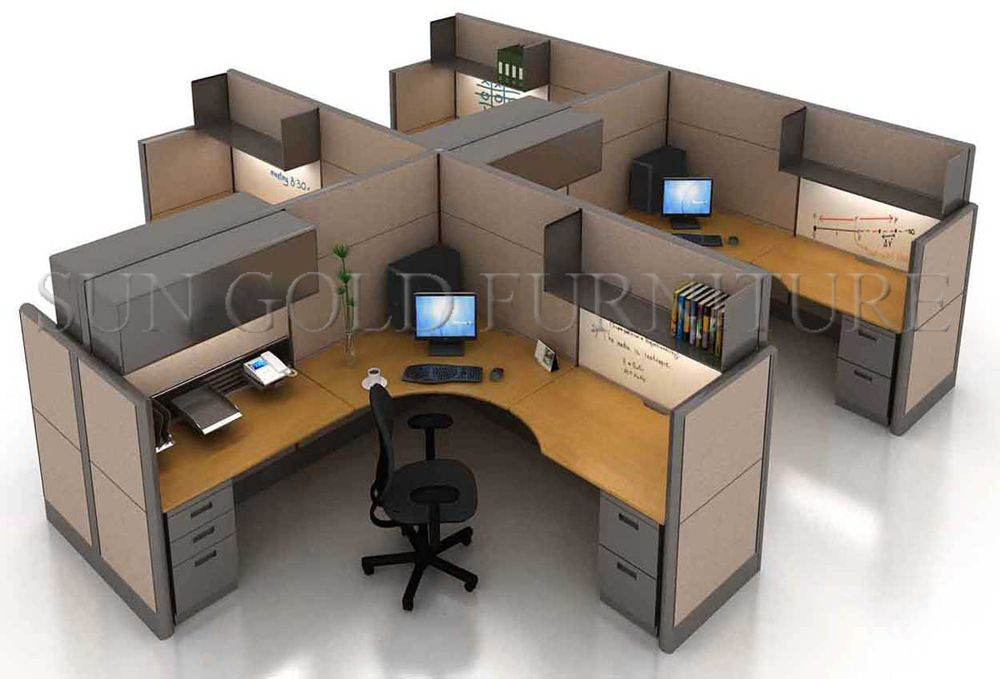 Design Layout Open Space Modern fice Workstation in Different