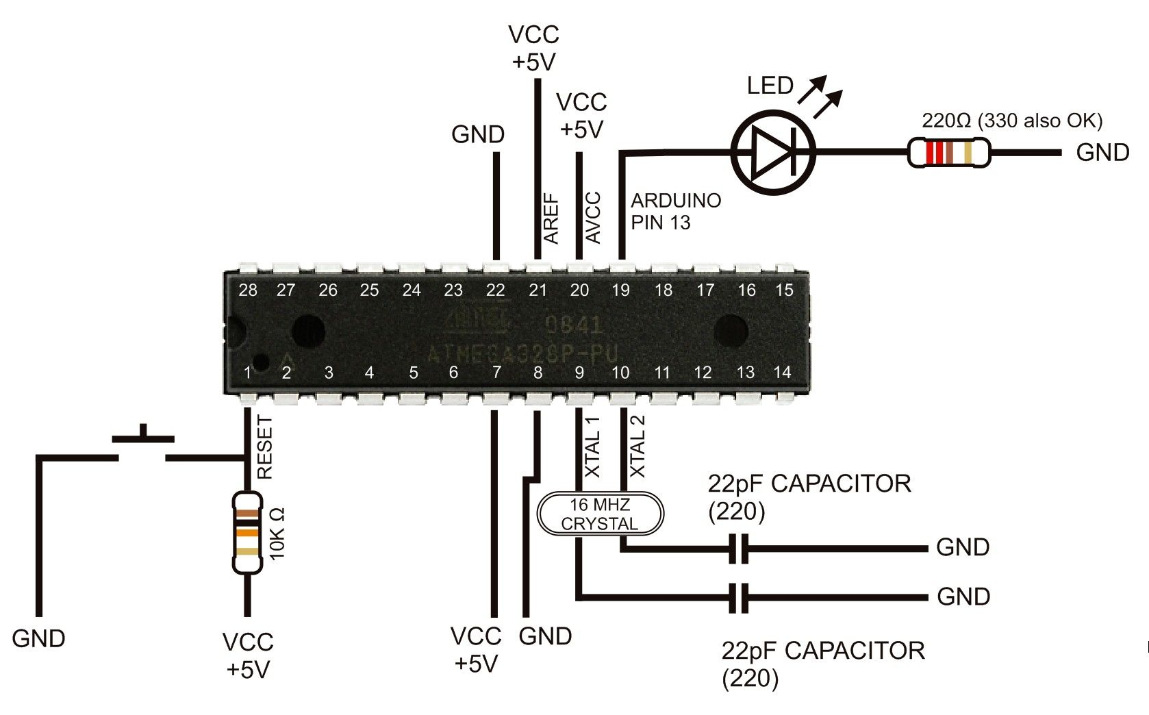 Znalezione Obrazy Dla Zapytania Atmega328p Arduino Protoboard For Electronic Projects Buildcircuit