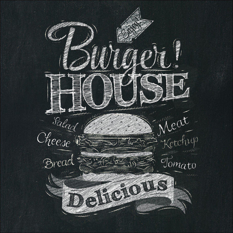 Amazon.de: Pro-Art gla1012a Wandbild Glas-Art \'Burger House\' 30 x ...