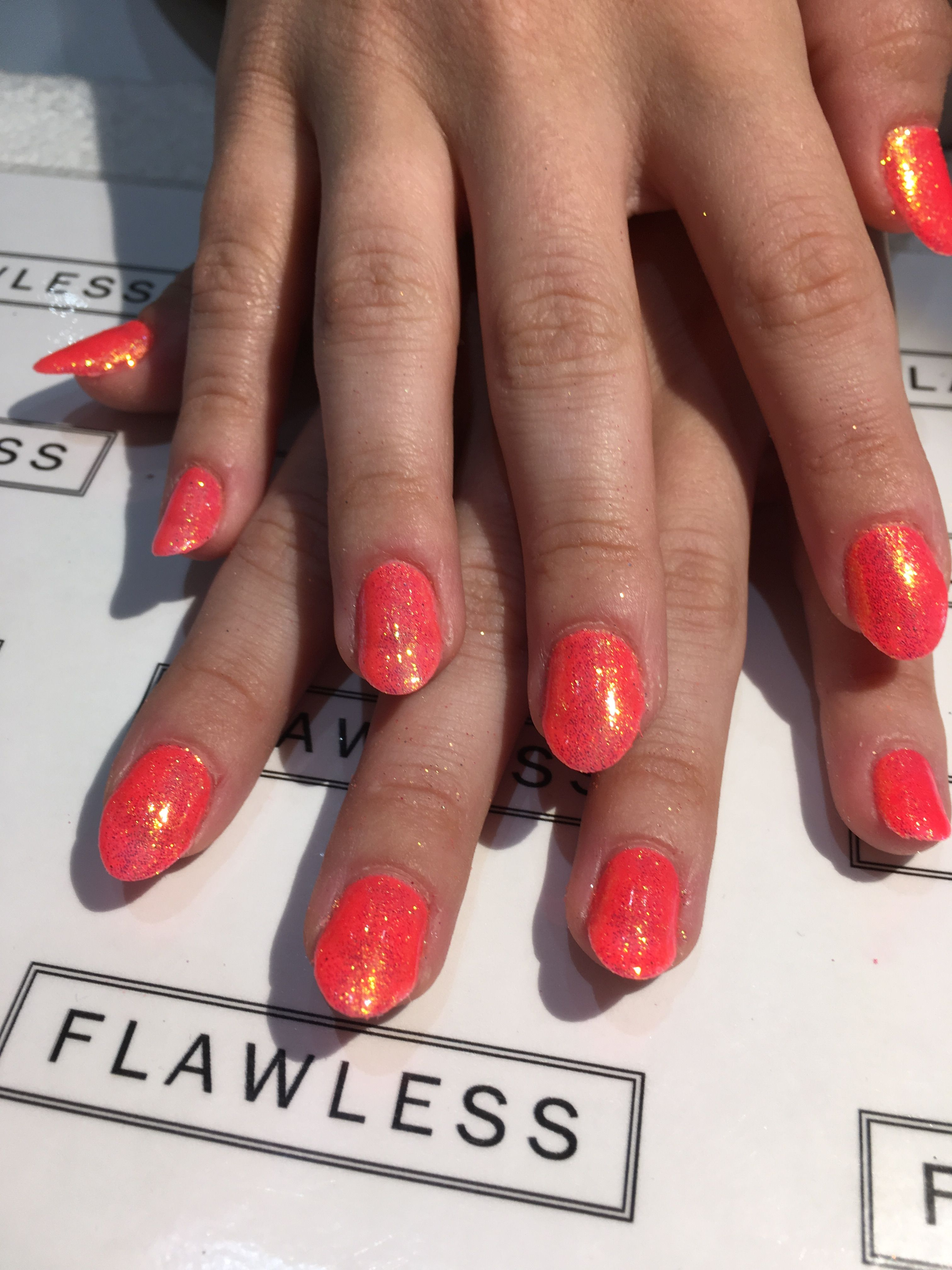 Neon summer Gelish nails at Flawless   Hair and beauty ...