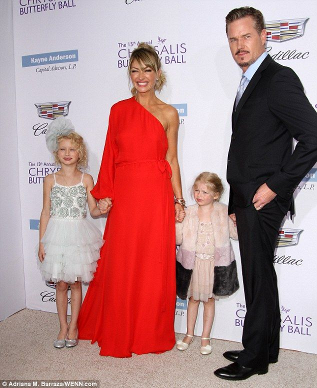 Eric Dane with his Rebecca Gayheart and their two daughters