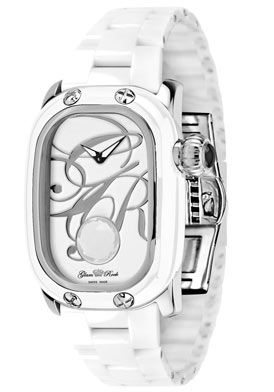 Click Image Above To Purchase: Glam Rock Gr72018 Women's Monogram White Onyx (2.25 Ctw) White Ceramic Watch