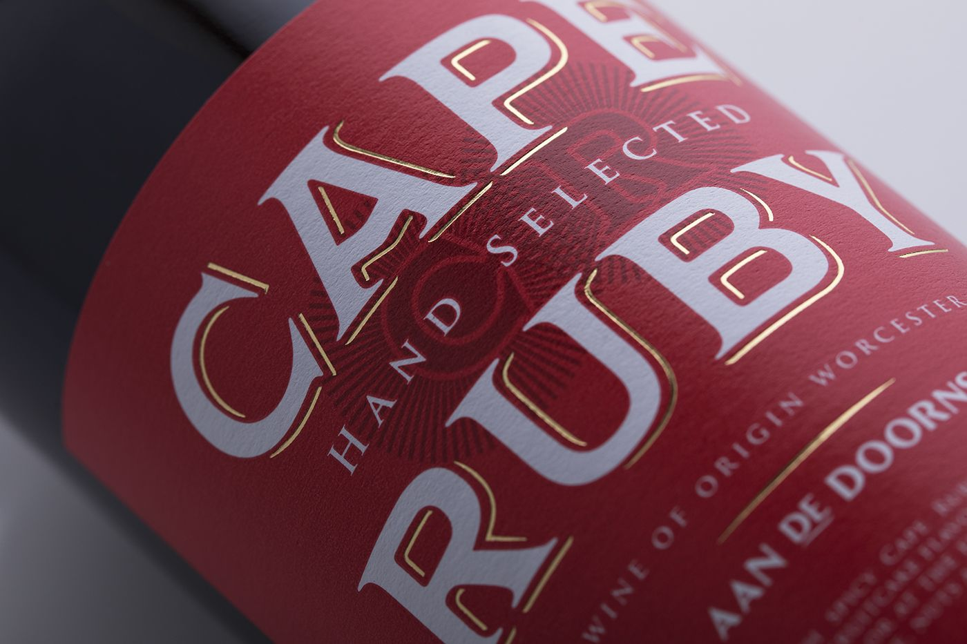 Stronger Shelf Presence With Packaging Design Revitalisation Of South African Cape Ruby Wine Brand Wine Brands Port Wine Labels Packaging Design