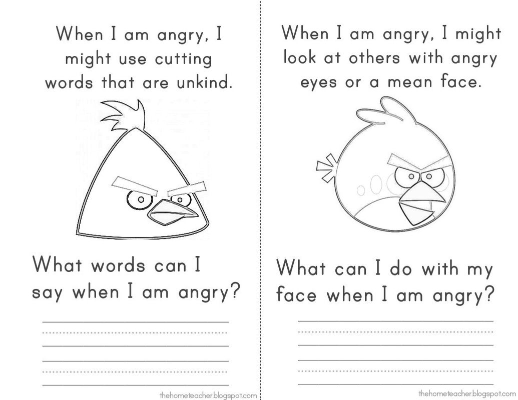 SG Anger Management Elementary School Counseling Dont Be An – Anger Worksheet