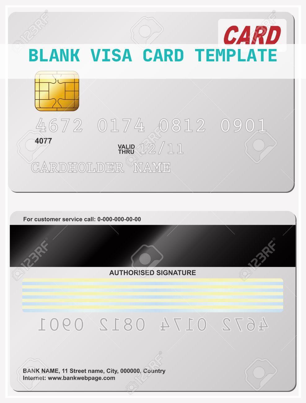 15 Topmost Blank Visa Card Template Visa Card Card Template Trading Card Template