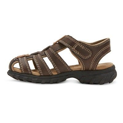 Toddler Boys' Willy Fisherman Sandals - Just One You Made by Carter's Brown 12, Toddler Boy's