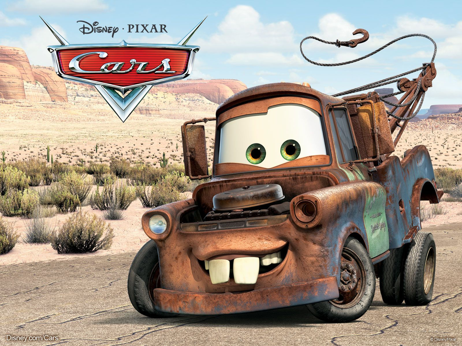 Cars movie mater the tow truck from pixar s cars movie wallpaper click