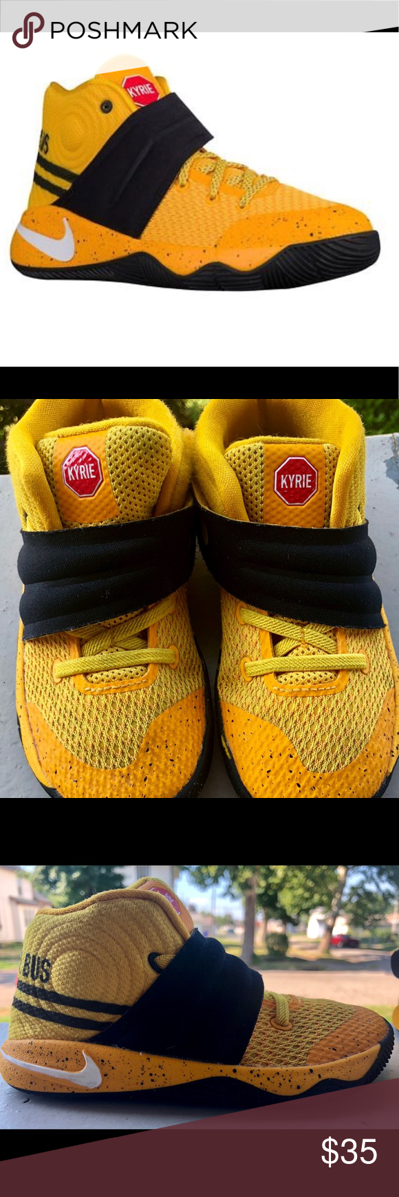 Nike Kyrie 2 Gs School Bus Shoes Nike Kyrie 2 Gs School Bus