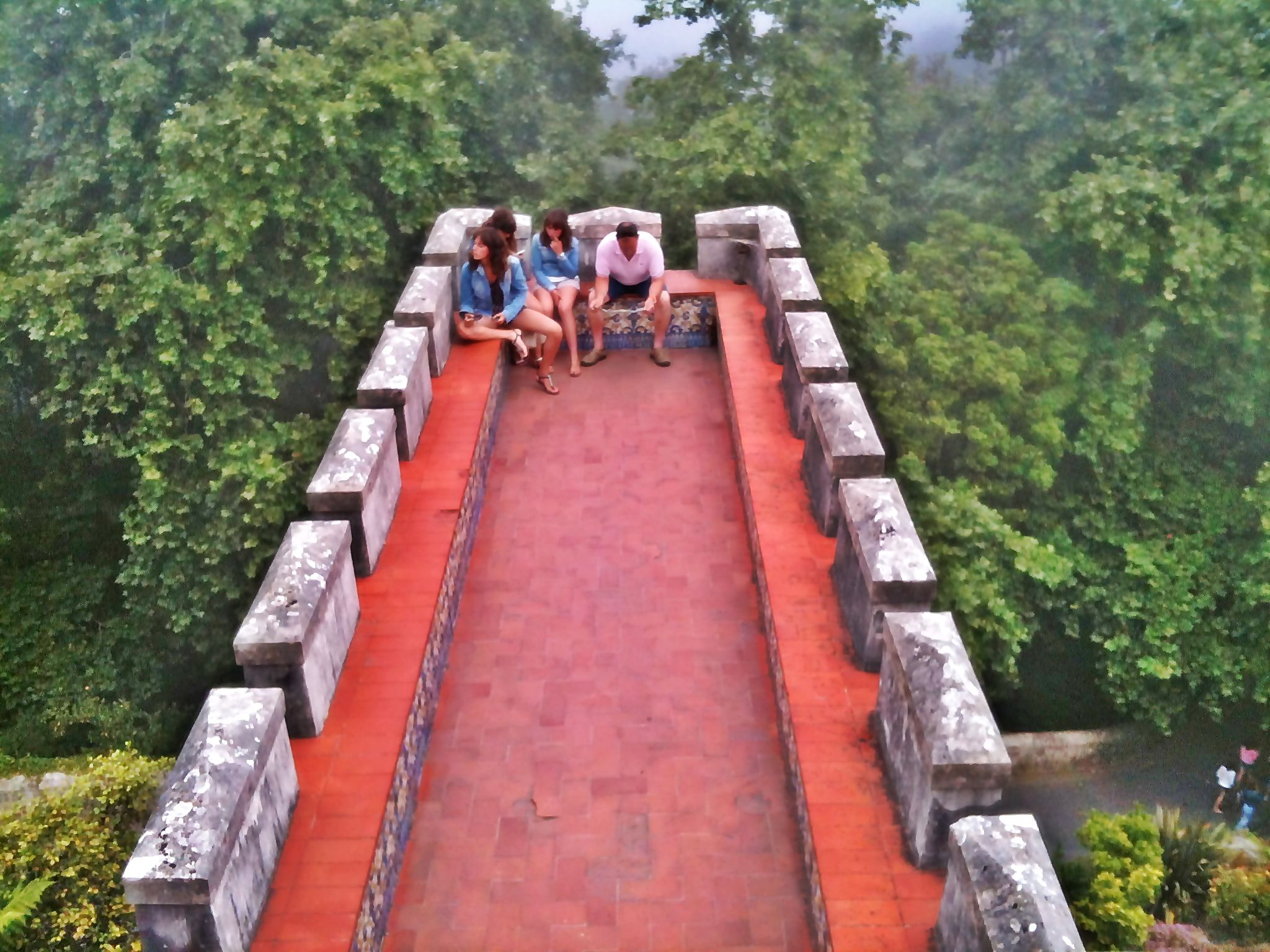 PENA PALACE TERRACE, COLORFUL, REMOTE, AMIDST FOREST AND SKY