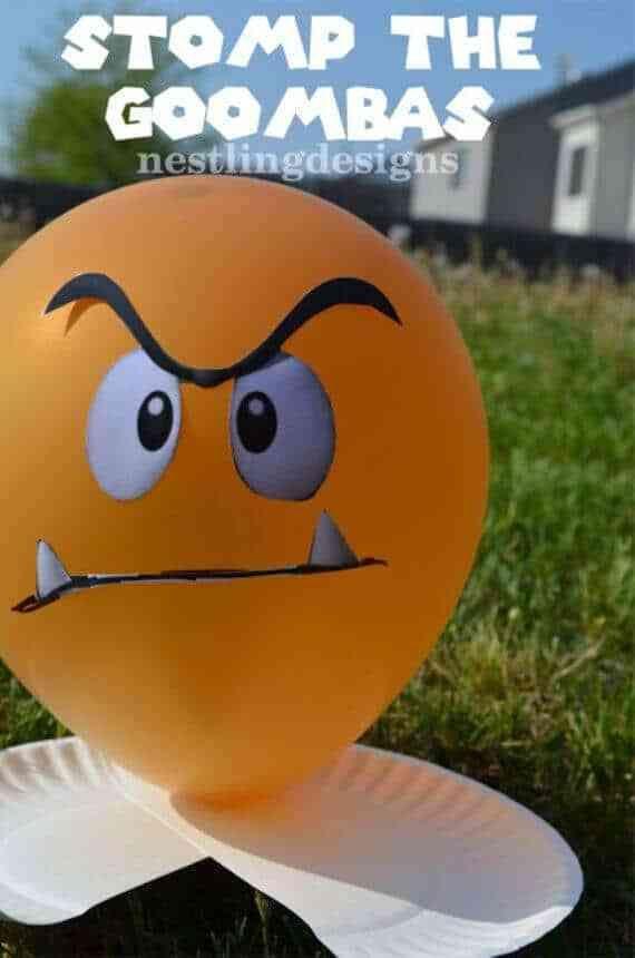 Vous cherchez une activité de fête Super Marios amusante? Essayez cette étape du jeu Goombas!