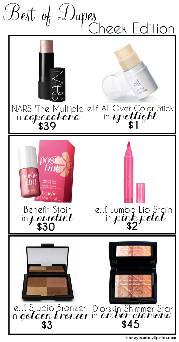 Best of Dupes: Cheek Edition on Money Can Buy Lipstick xo