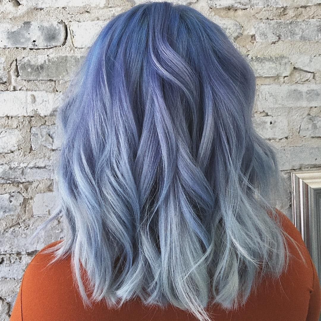 Arctic Fox Hair Color Jewlznglam Bluehair Coloredhair Arcticfoxhaircolor Veganhairdye Denimhair Pastel Blue Hair Arctic Fox Hair Color Hair Color Blue