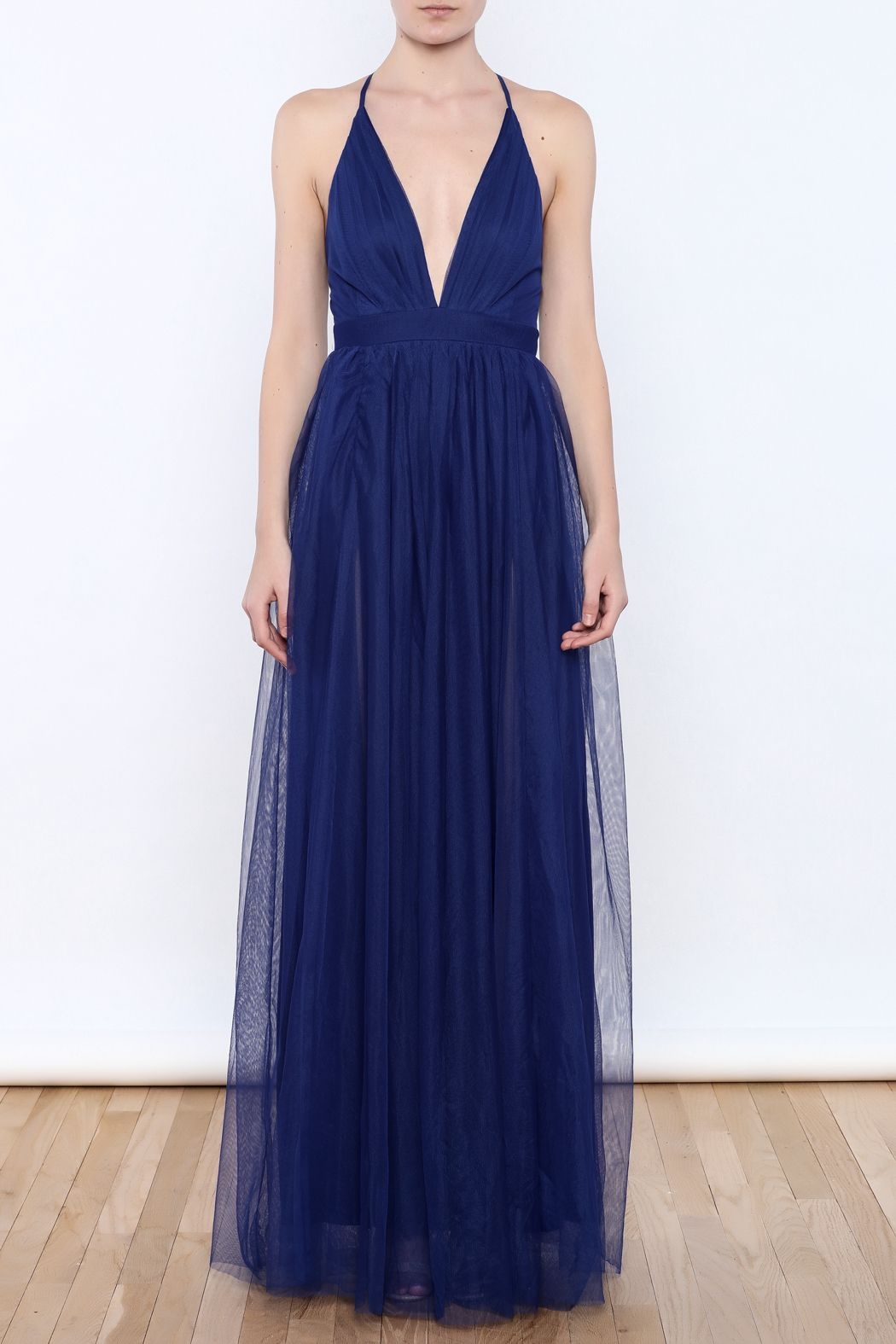 0f7f7468306 luxxel Tulle Maxi Dress - Front Cropped Image