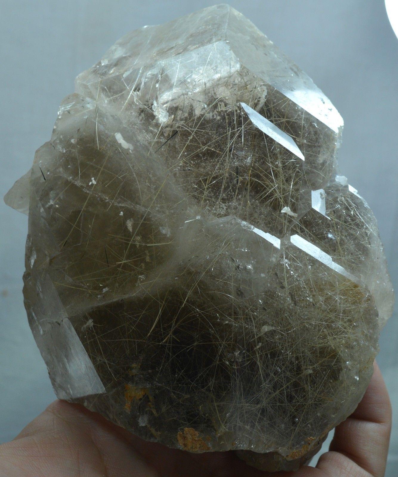 1180 Gram Terminated Rutile Inclusion Smoky Quartz Crystal From Pakistan