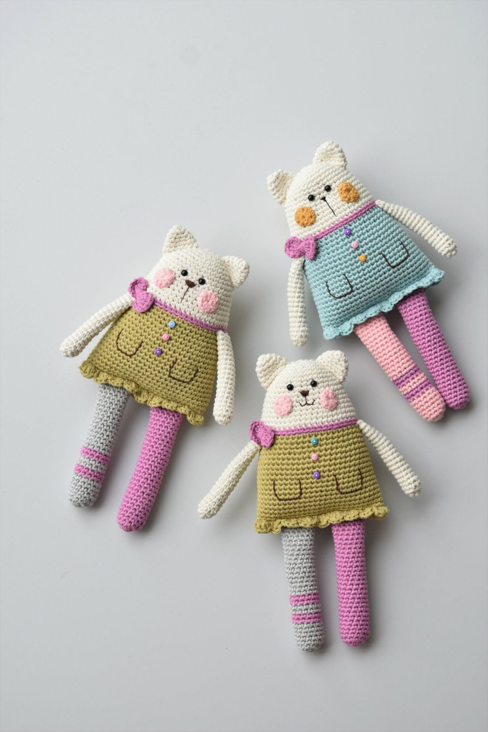 Cuddly Amigurumi Toys: 15 New Crochet Projects by Lilleliis: Lille ... | 1500x1000