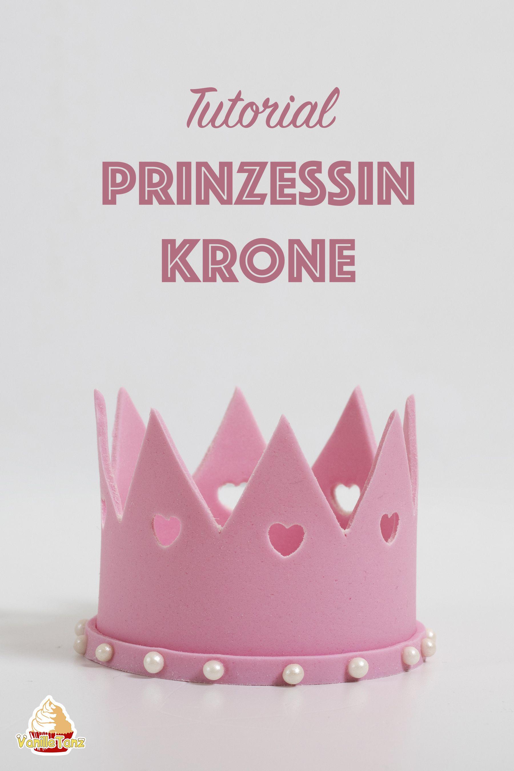 Prinzessin-Krone aus Blütenpaste Tutorial | Prinzessin krone ...