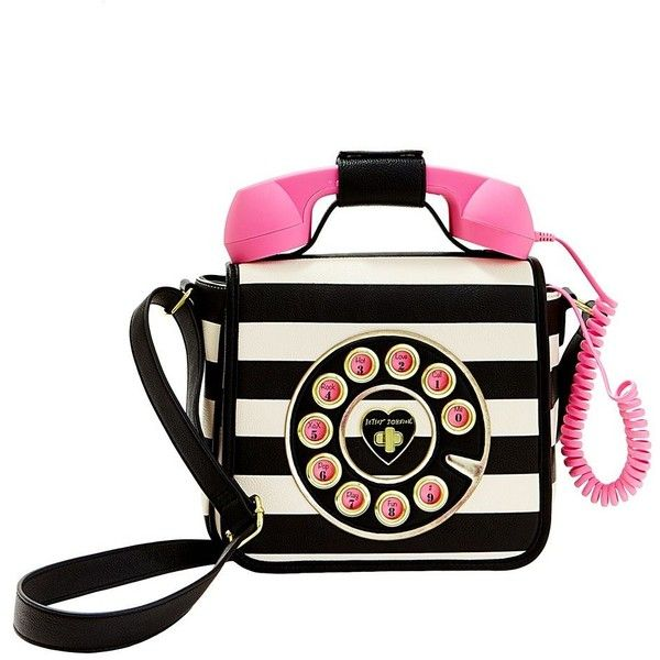 Betsey Johnson Kitsch Call Me Baby Telephone Bag Handbag 4 940 Dop Liked On
