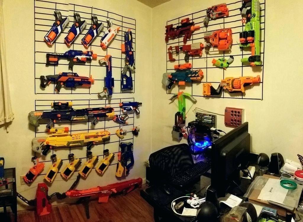 nerf gun wall storage gun rack einführung gun wall display gun rack ideen gun …