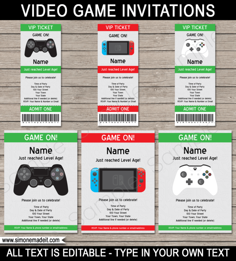 3 New Video Game Birthday Party Themes Playstation Nintendo Switch Xbox Video Games Birthday Party Video Games Birthday Xbox Party