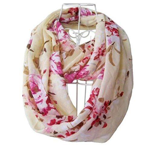 StellarChic Premium Women's Sheer Soft Cloth Infinity Loop Scarf (Blossom in cream) StellarChic http://www.amazon.com/dp/B01B2A0J8O/ref=cm_sw_r_pi_dp_.qo8wb0R0WGMR