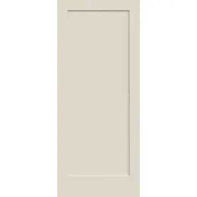 Reliabilt Shaker White 1 Panel Solid Core Wood Slab Door Common 24 In X 80 In Actual 24 In X 80 In Lowes Com Slab Door Shaker Interior Doors Reliabilt