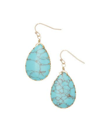 Another great find on #zulily! Turquoise Teardrop Earrings #zulilyfinds