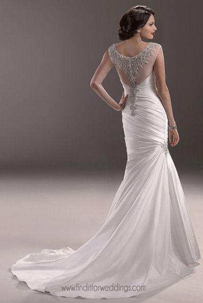 Landyn Back Maggie Sottero Jpg 400 595 Pixels Wedding Dresses 2014 Wedding Dresses Maggie Sottero Wedding Dresses